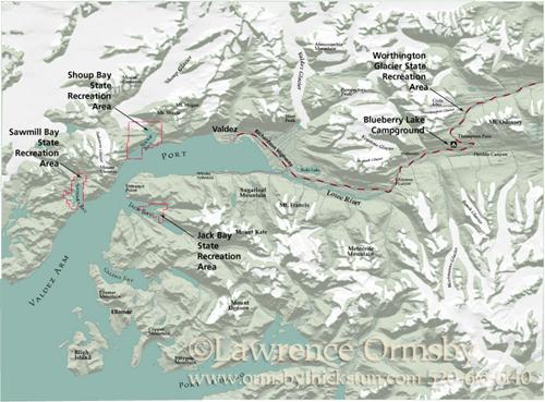 Valdez Alaska Map Valdez Alaska Map Created For
